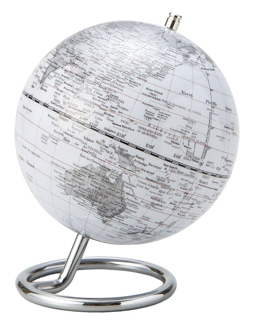 茶谷産業 インテリア地球儀L ホワイト 331-012W B00BMGC2SY Small|ホワイト ホワイト Small