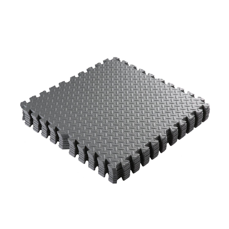 Cartknights 12 X Schutzmatten Set 60 x 60 cm Bodenschutzmatten Trainingsmatten Puzzlematten fü r Bodenschutz, Bü ro, Fitnessraum, Sport, Yoga, Workout