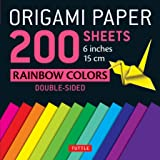 Origami Paper 200 Sheets: Rainbow Colors