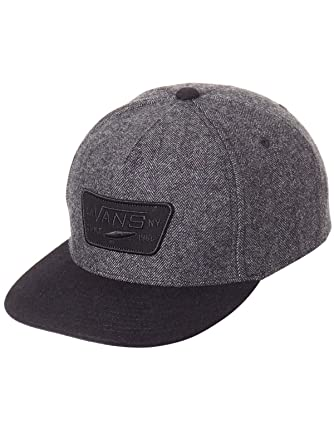 76e9983a Vans Heather Grey-Black Full Patch Snapback Cap: Amazon.co.uk: Clothing