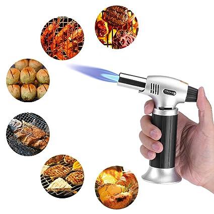 Linterna Cocina encendedor a linterna quemadores de cocina soplete para soldar, Butano linterna a Llama