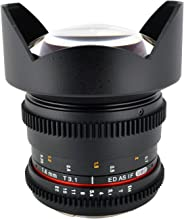 Rokinon Cine CV14M-N 14mm T3.1 Cine Wide Angle Lens for Nikon with De-Clicked Aperture and Follow Focus Compatibility 14-14mm Wide-Angle Lens