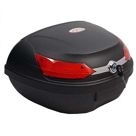 Baúl de moto universal 48 LT A-pro, desenganche rápido, para equipaje en motocicleta, quad y scooter: Amazon.es: Coche y moto