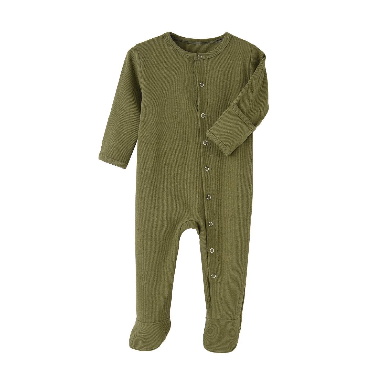 HonesBorn Baby Cotton Pajamas Boy Girl Zip Footed Sleeper Infant Romper