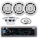 "Amazon Price History for:Great New KMR-D365BT Kenwood Marine Boat Yacht Outdoor Bluetooth Stereo CD MP3 Player USB iPod iPhone Pandora AM/FM Reciver, 4 X Kenwood 6.5"" Inch Waterproof Speakers Enrock Antenna - Marine Audio Kit"