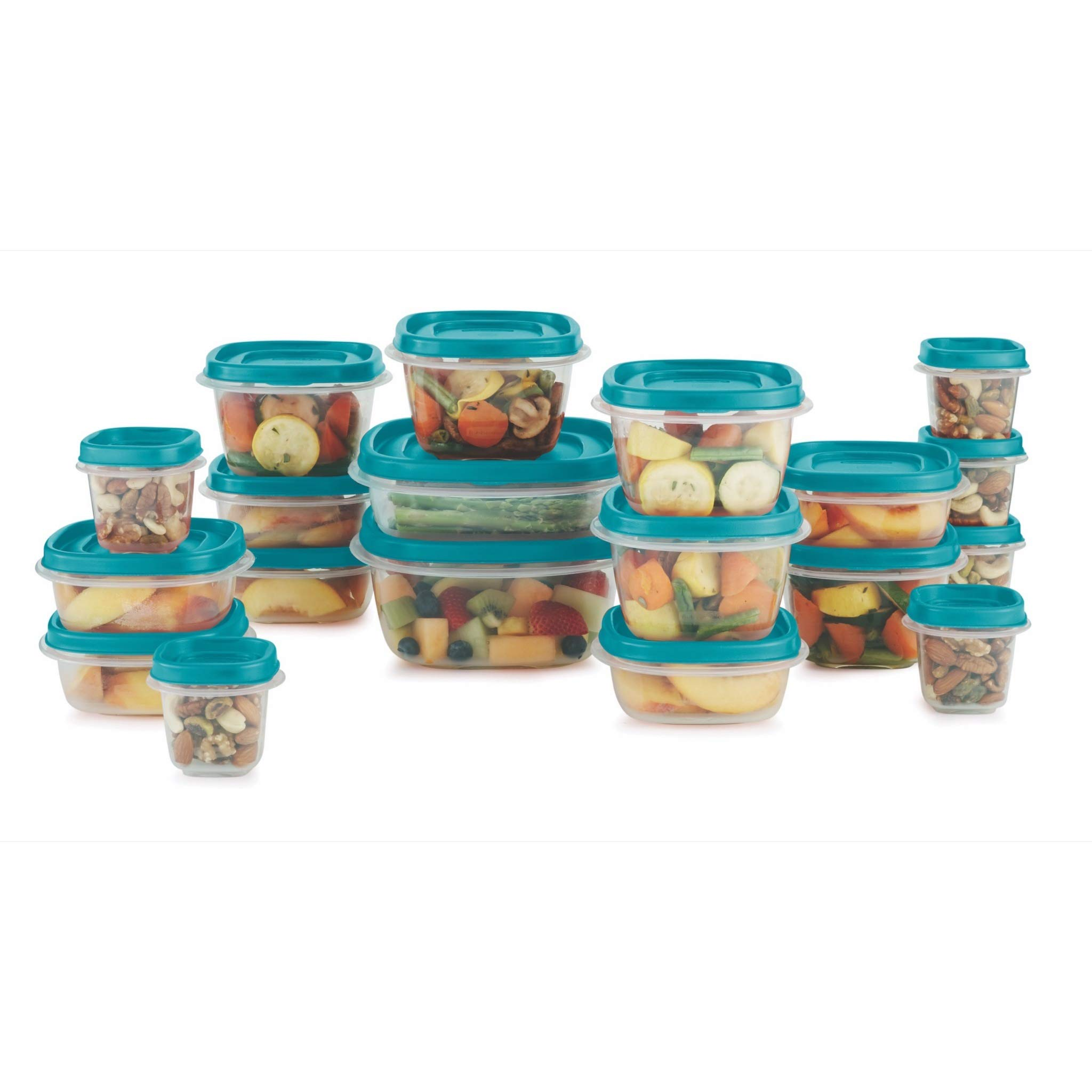 Rubbermaid Food Storage 38 Piece Set with Easy Find Lids, Teal by Rubbermaid