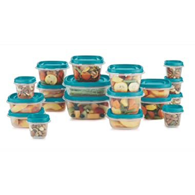 Rubbermaid Food Storage 38 Piece Set with Easy Find Lids, Teal