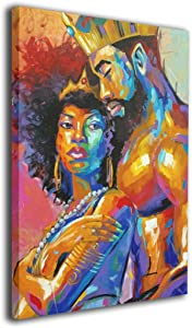 King African American Lovers Couple 8
