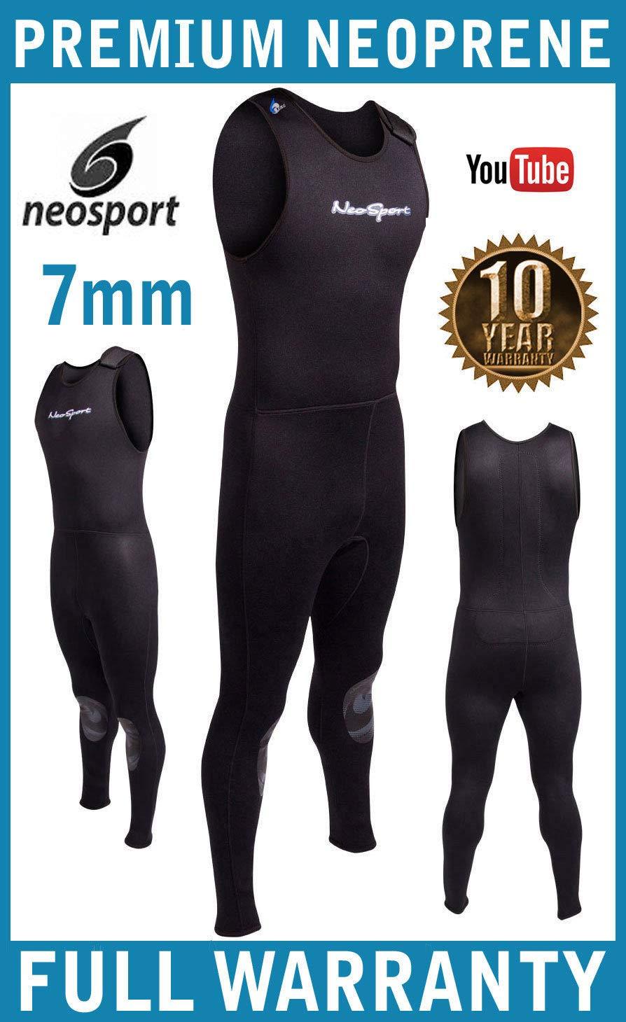 NeoSport Wetsuits Men's Premium Neoprene 7mm John,Black,Medium by Neo-Sport