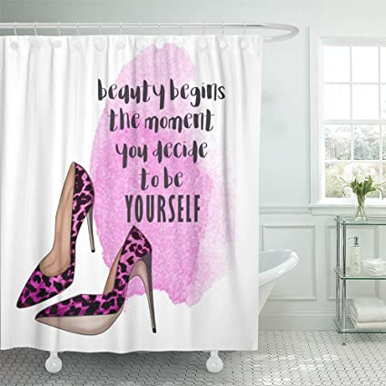 Amazon Emvency Shower Curtain Polyester Print 72x78 Inches
