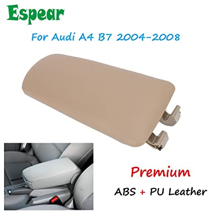 Leather Armrest Center Box Console Lid Cover for Audi A4 B6 B7 02-07 Beige