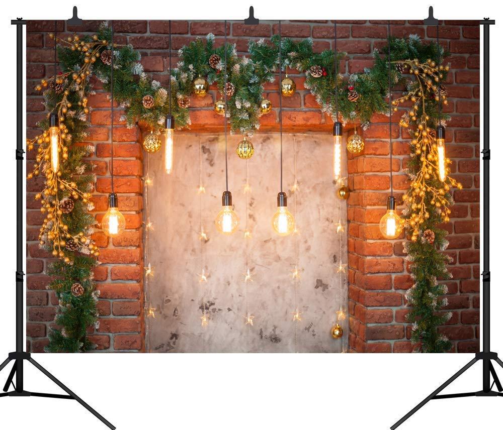 SZZWY クリスマスデコレーション レンガ壁 シームレス ビニール 写真撮影 スタジオ小道具 PGT292A 7X5フィート (210X150cm) 10X8FT(300X240CM)  B07L5SL74Q