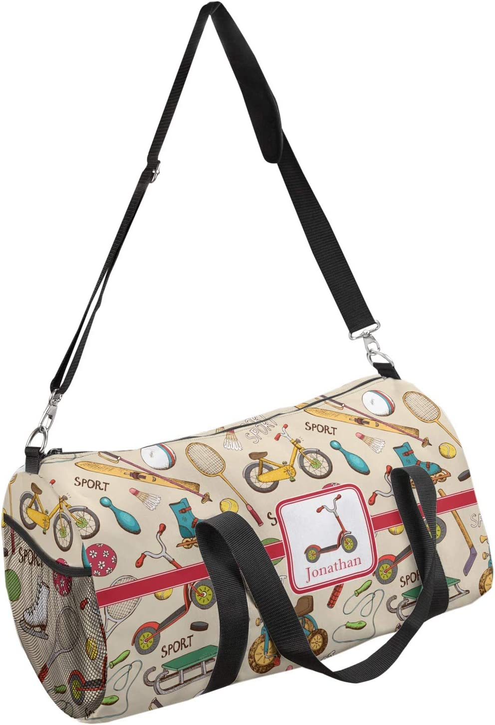 Personalized YouCustomizeIt Vintage Sports Duffel Bag