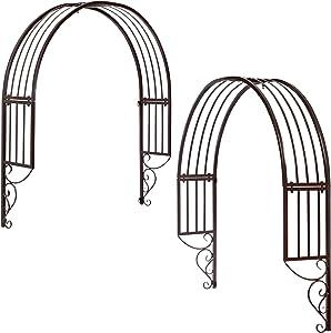 Design Toscano Thornbury Ornamental metal Garden Window Trellis, Black