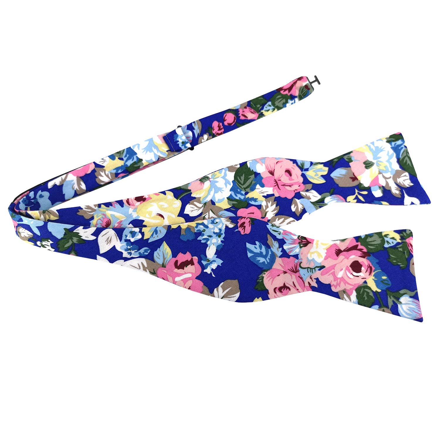 PenSee Mens Self Bow Ties Floral Pattern Printed Cotton Bowtie Various Styles