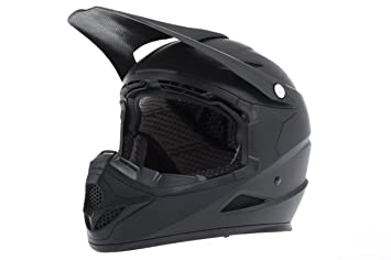 Diamondback - Casco de motocross negro negro mate Talla:small