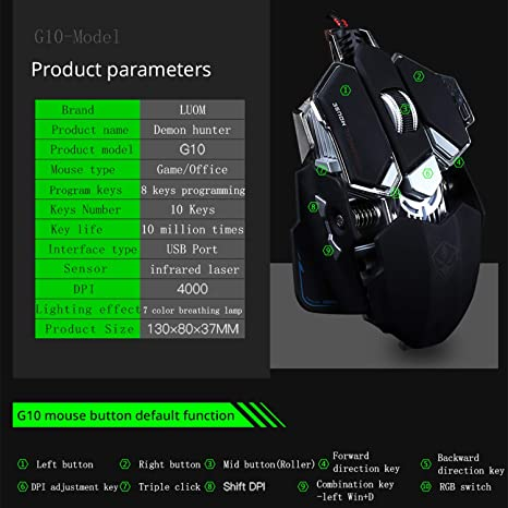 NEW LUOM G10 Gaming Mouse Bag Overwatch Roll FPS Red