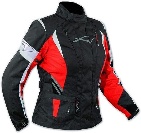 Textiljacke Motorrad Touring Damen Protektoren Thermofutter Wasserdicht Rot Xxl Auto