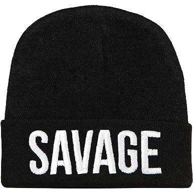 235baa9cd00 Stay Sick Clothing Men s Savage Beanie Black  Amazon.co.uk  Clothing