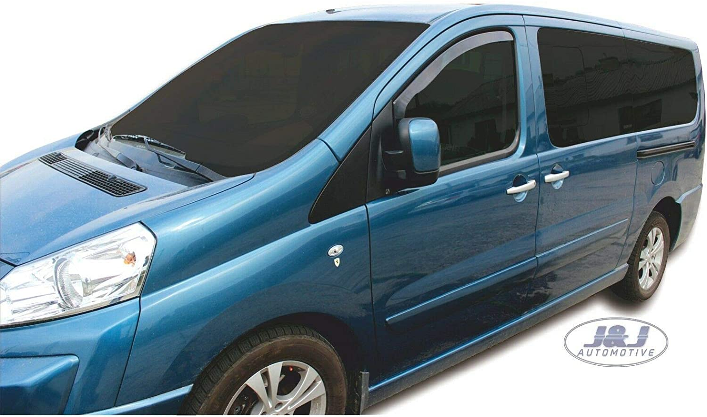 Amazon.es: J&J AUTOMOTIVE - Deflectores de Viento para Peugeot Expert 2P 2007 (2 Unidades)