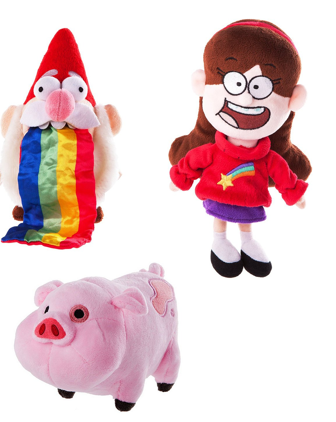 Amazon.com: Disney Gravity Falls Plush Bundle 3 item: Mabel , Waddles and Barfing Gnome: Toys & Games