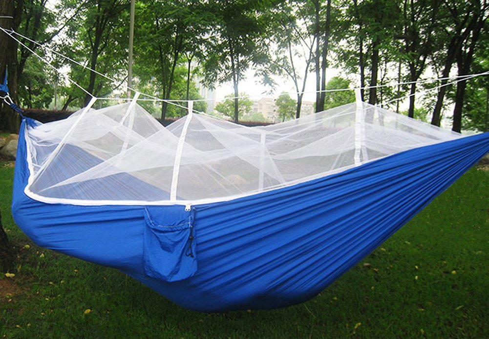 Double Camping Hammock with Encryption Polyamide Fibre Mosquito Net Lightweight