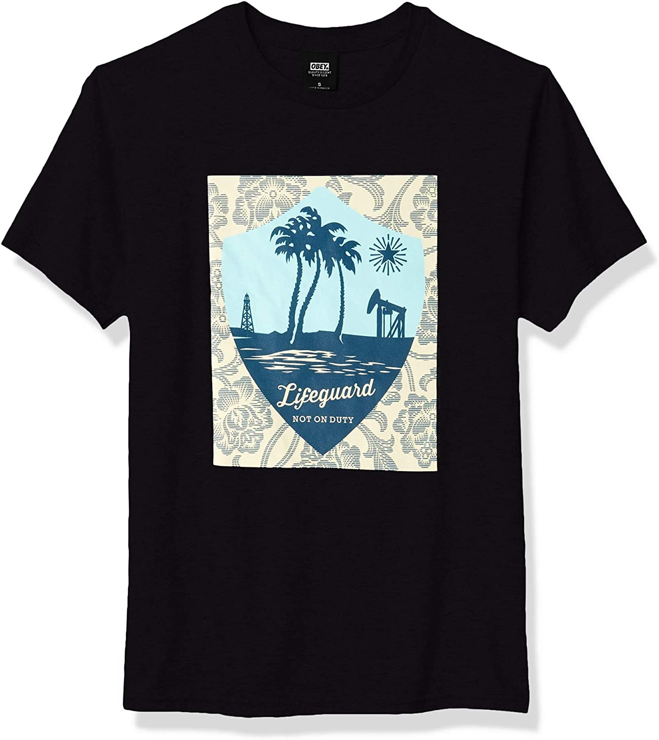 Obey Mens Basic Ss Lifeguard Not on Duty Tee