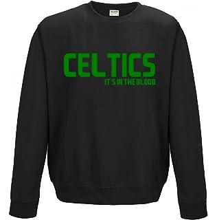 AllAboutThePrint Celtics It s in The Blood Boston NBA Gift Sweatshirt Top  Jumper Sweater Basketball Present idea 1f846017623f