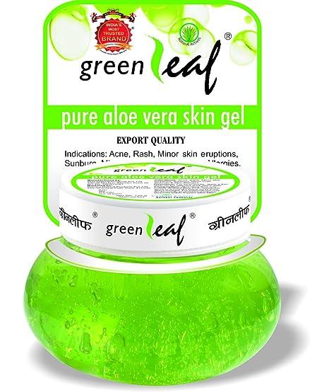 green leaf aloe vera gel