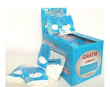 34 bolsas de Filtros Rasta Slim 6mm. + 1 librito papel azul ...