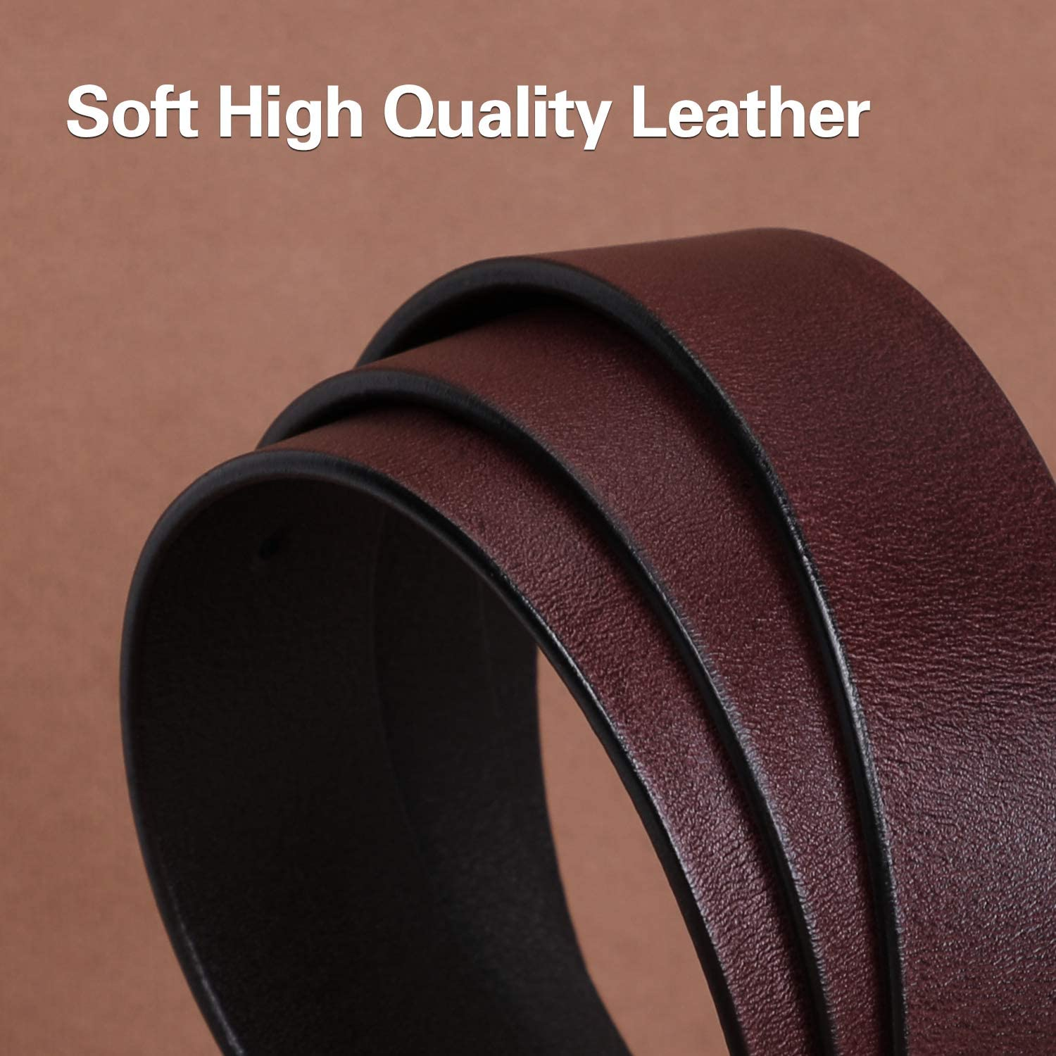 Womens Black Buckle Belt SANSTHS Casual Leather Jeans Belts with Prong Buckle