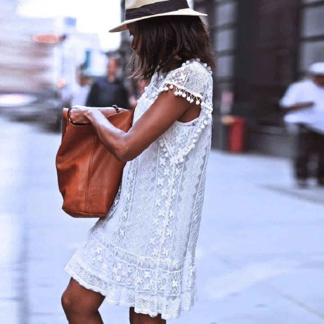 Moda Abito Casual da Taschino a Maniche Lunghe da Donna T-Shirt da Sera da  Sera Allentata Vestito Mini Abito Donna Elegante Casual Spiaggia Dress per  ... 31c614a7ebfb