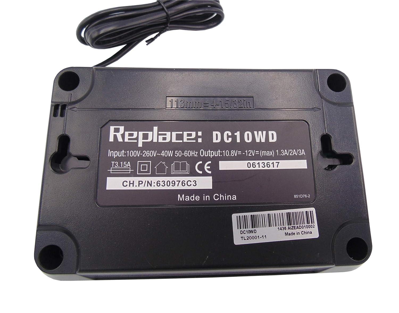 Reemplace cargador DC10WD por DC10SB con bater/ía BL1041B 4Ah 12V para TW161D TW161DZ HR140D HR140DZ HR166D HR166DZ DA332D DA333D DA332DZ BL1021B BL1016