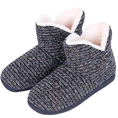 più alla moda ampia scelta di colori selezione premium AONEGOLD Pantofole Donna Stivaletto Pantofole da Casa Morbido Antiscivolo  Peluche per Donna Uomo Ciabatte Invernali