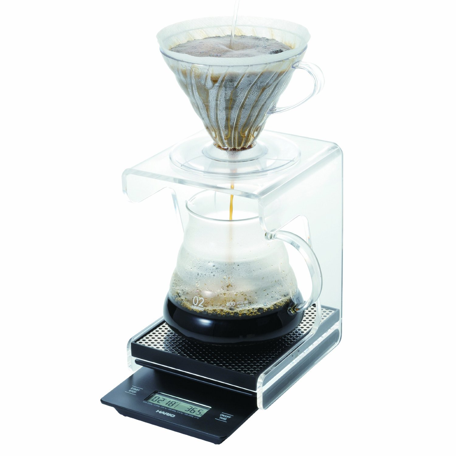 Hario V60 Complete Coffee Brewing Set - Scale, Brewer Set & Stand by Hario (Image #4)