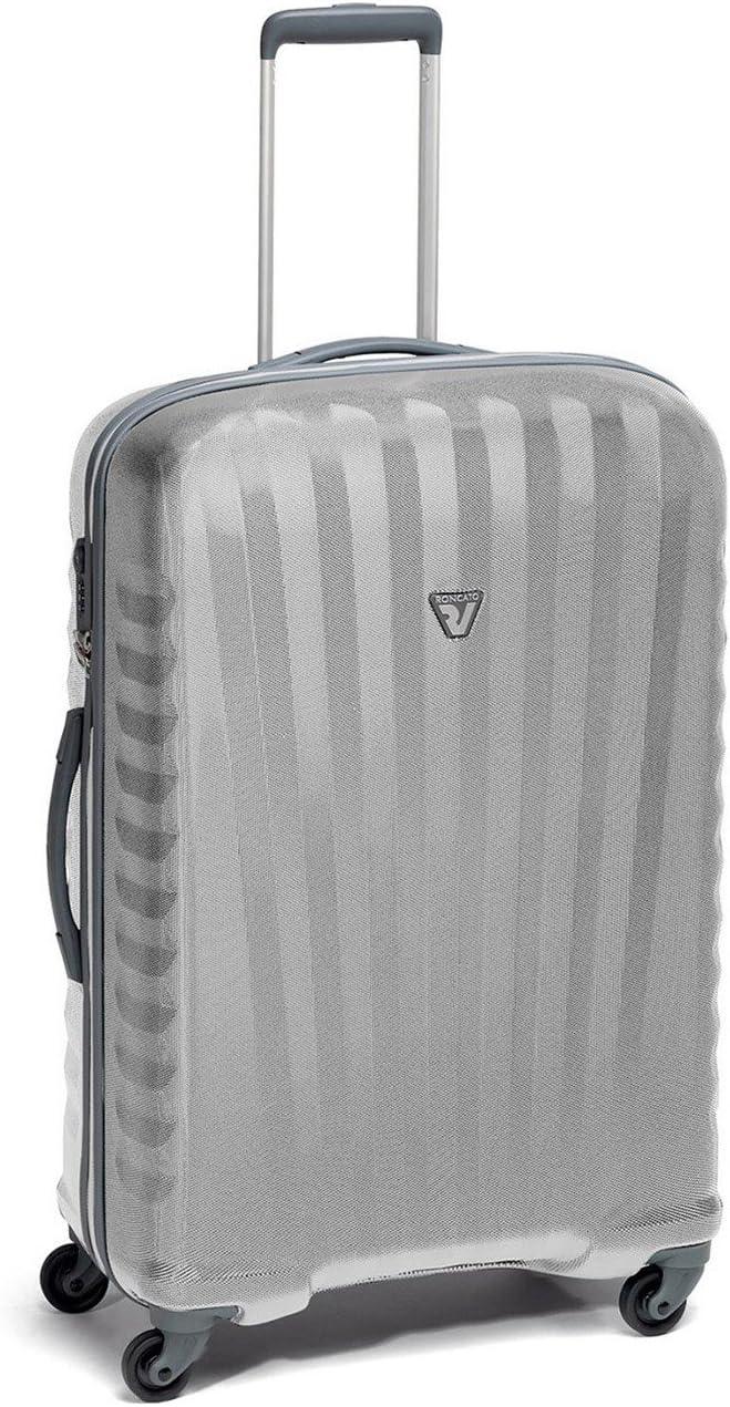 Roncato - RONCATO UNO - Zip 4 W - 5082 - Trolley Medio con 4 Ruedas - Talla : 71X44X25 - Color : Gris/Silver