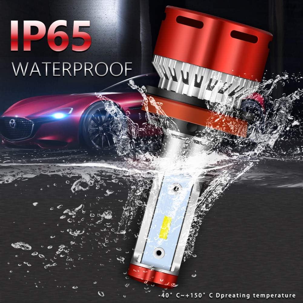2 Yr Warranty 32V Pack of 2 NATGIC 9012 HIR2 LED Headlight Bulbs Conversion Kit MINI Design Super Bright CSP Chips 12000LM /& 6500K Xenon White DC 9V