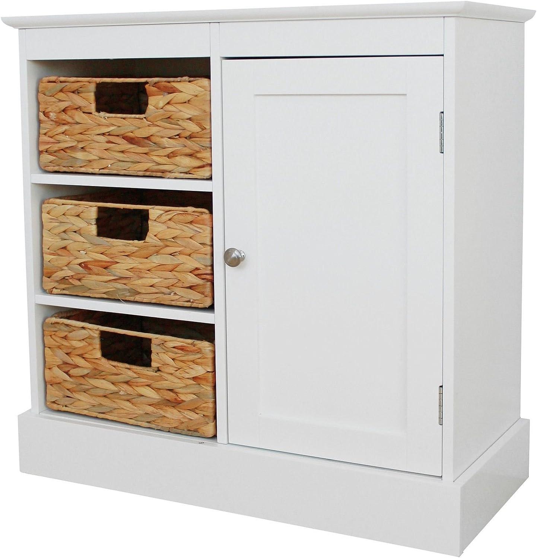 Argos Hadley Wide Floor Cabinet 5 Drawers 5 Door - White: Amazon