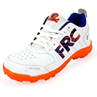 Feroc Seamar White Orange Cricket Shoes