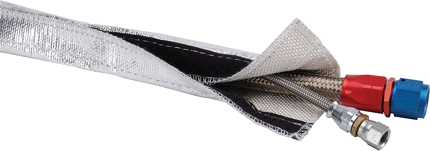 1.25 x 3 0.5 Design Engineering 010405 Heat Shroud Aluminized Sleeving for Ultimate Protection with Hook and Loop Closure