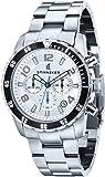 Spinnaker - SP-5009-22 - Stern - Montre Homme - Quartz Chronographe - Cadran Blanc - Bracelet Acier Gris