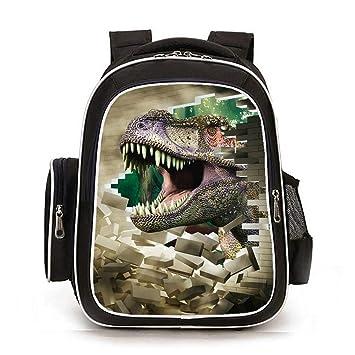 topsone Mochila Escolar para niños fortnite 3d dinosaurios Impresión Niños Mochilas Daypack - Mochila escolar mochila para exterior portátil Senderismo ...