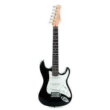 EKO music S-100 3/4 Electric guitar Stratocaster 6cuerdas Negro ...