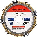 Disco de entalhe em madeira de 115 mm – Peça de substituição de disco de corrente de moedor angular de 115 mm, acessório de m
