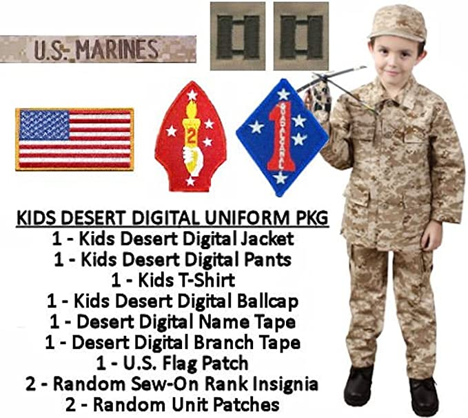 Amazon Com Kids U S Marine Military Costume Desert Digital Clothing