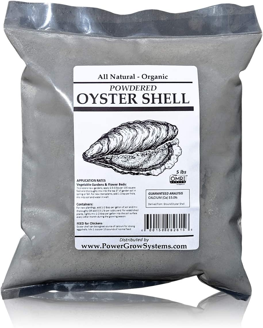 Oyster Shell Powder - Organic Ground Oyster Shell for Chickens and Plants (5 pounds)