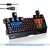 SADES Gaming Keyboards K8 Blademail PC Gaming Tastiere 19 tasti non-conflitto Materiale del metallo (nero)