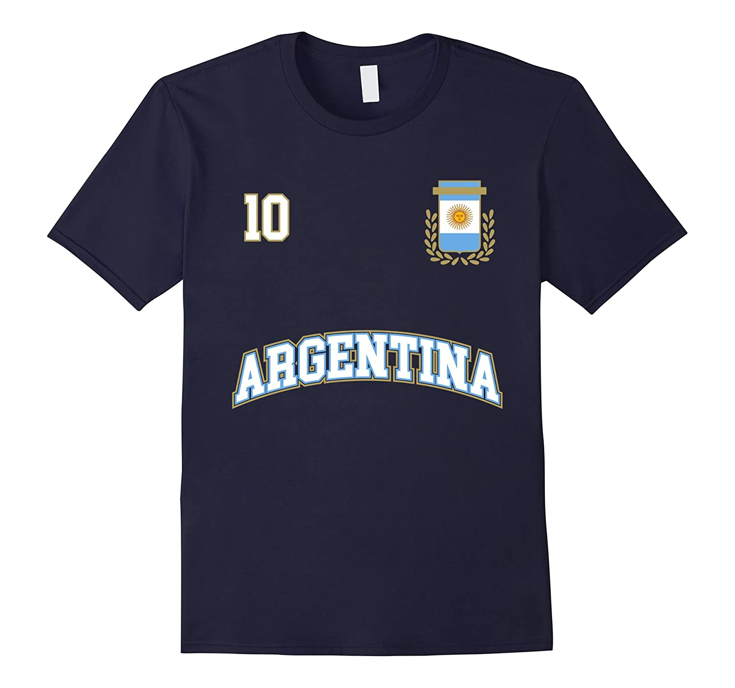 Argentina Shirt Number 10 Soccer Team Sport Seleccion Futbol-RT