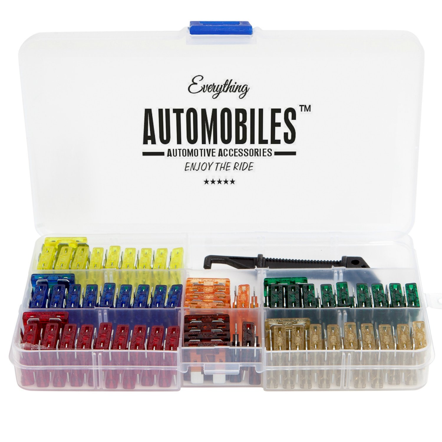 Includes Fuse Puller Tool Everything Automobiles Great for Use on Cars 120 Assorted Fuses with 10 Inline Fuse Holders