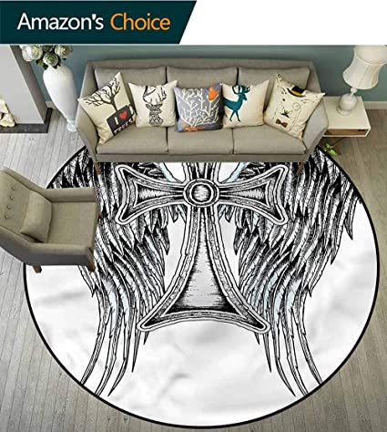 Brilliant Amazon Com Rugsmat Gothic Luxury Round Area Rugs Ancient Cjindustries Chair Design For Home Cjindustriesco